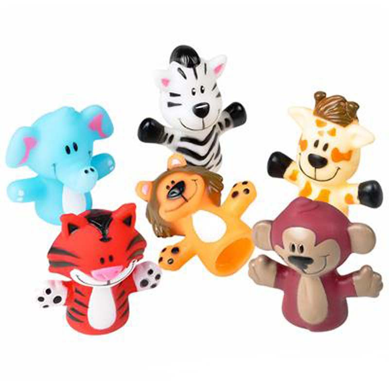 (Dozen) Zoo Animal Finger Puppets