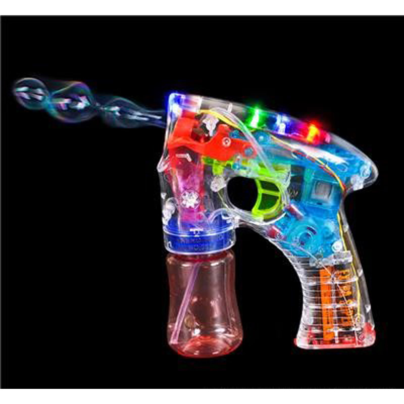 "5.5"" Transparent Light-Up Bubble Blaster"