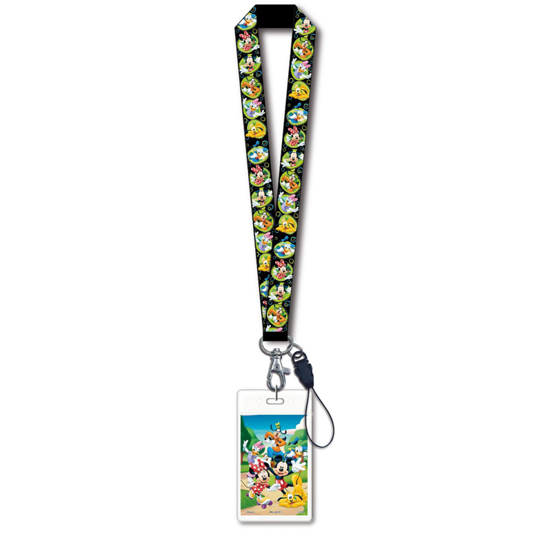 Lanyard & Name Tag - Mickey and Gang