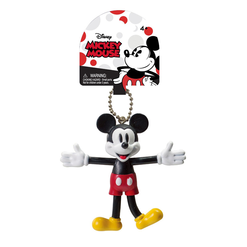Bendable Key Chain - Disney - Mickey Retro