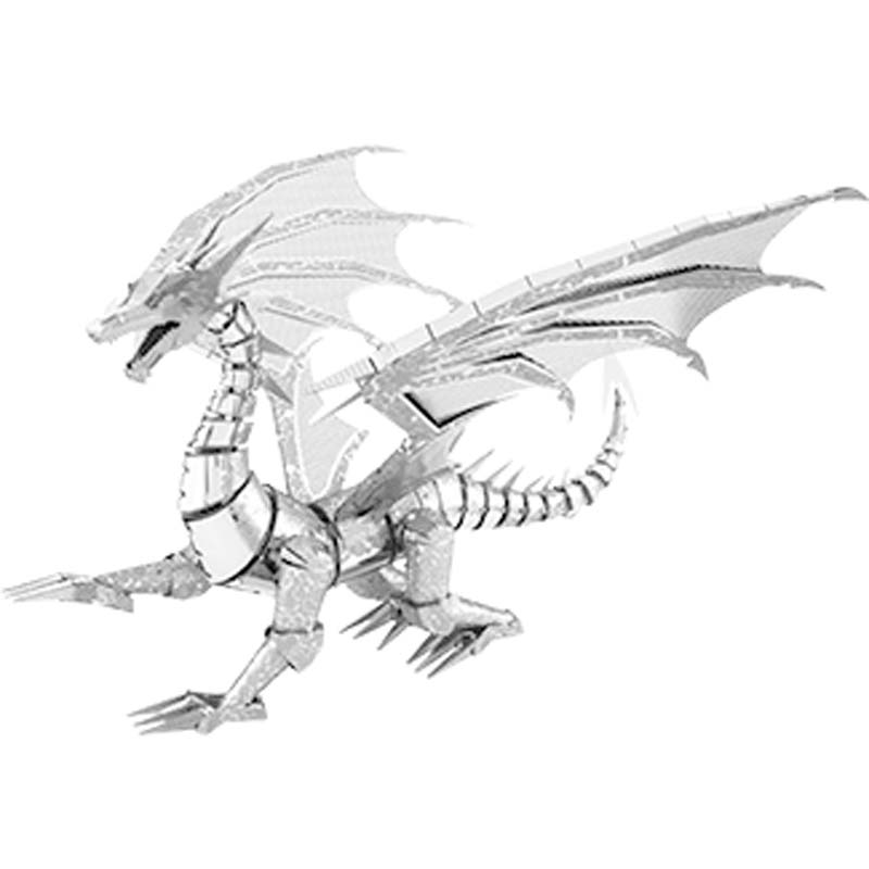 Metal Earth: ICONX: Silver Dragon