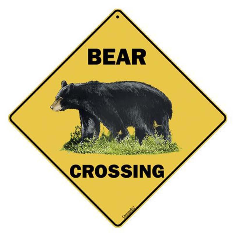 Bear Crossing - Sign