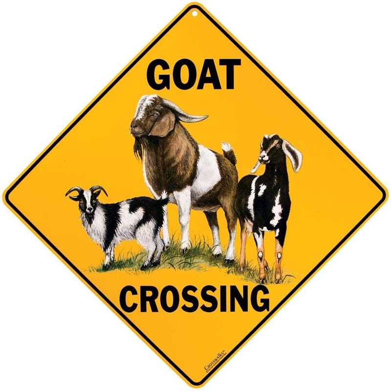 Goat Crossing - Sign