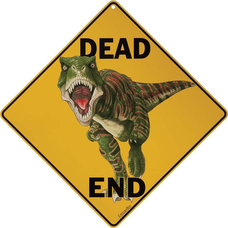 Dino Dead End - Sign