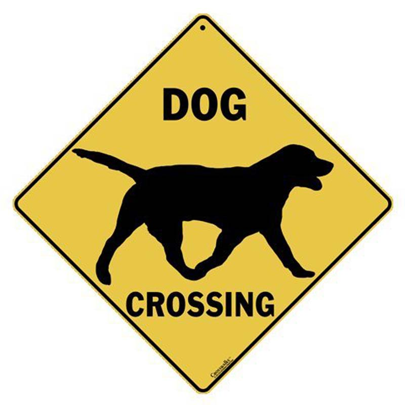 Dog Silhouette Crossing - Sign