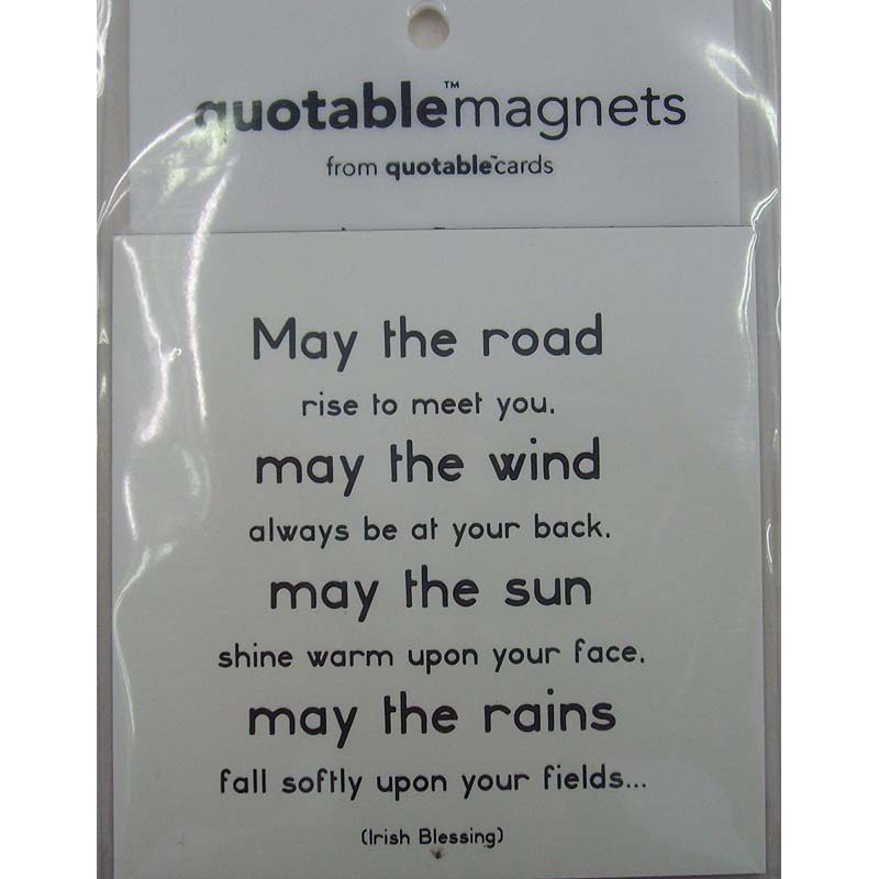"Quotable Magnet - ""May The Road"