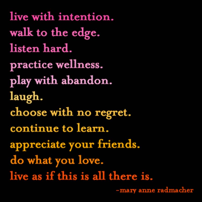 "Quotable Magnet - ""Live With Intention"""