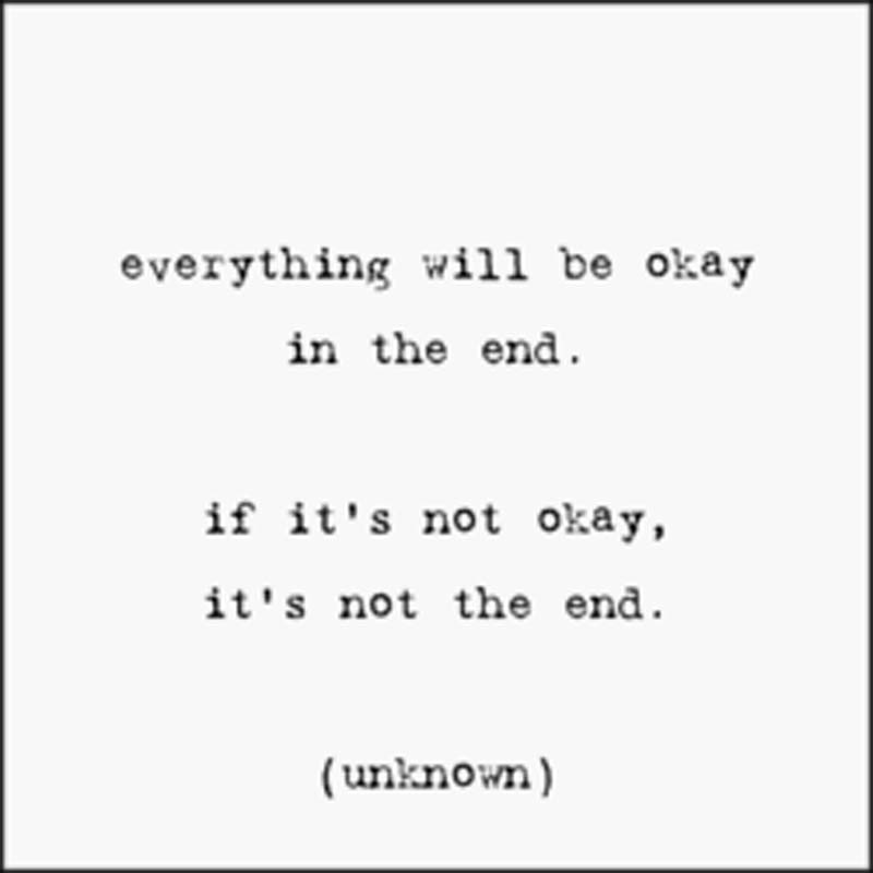 "Quotable Magnet - ""Everything Will Be Okay"