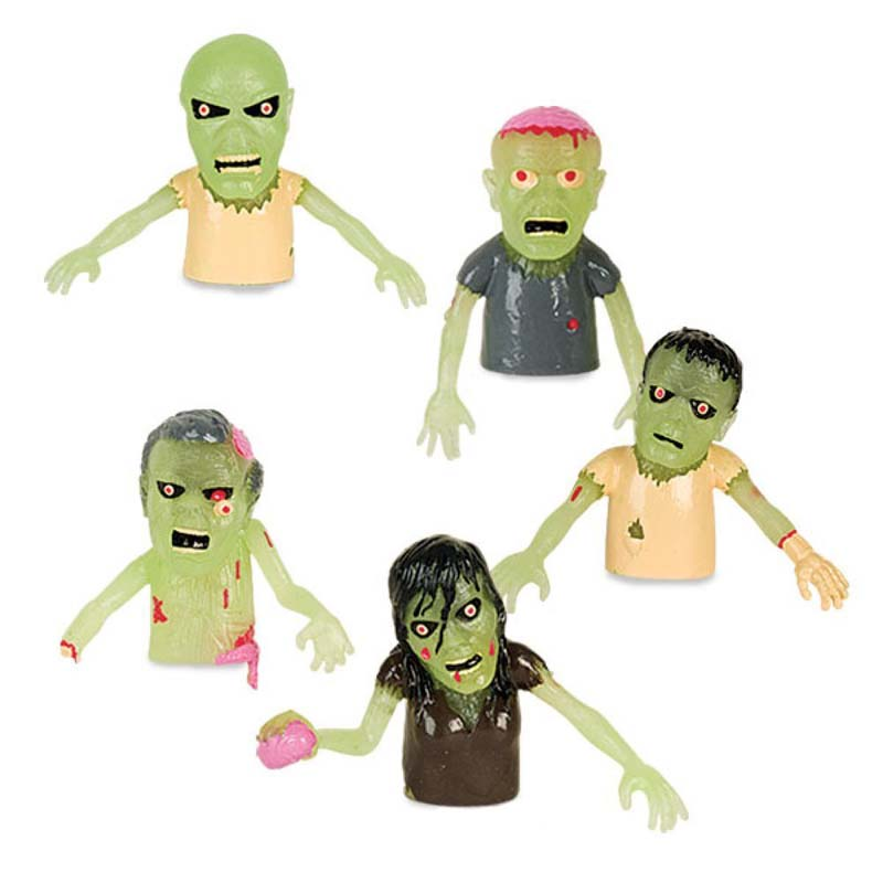 Finger Puppet - Zombie Glow (5 pack)