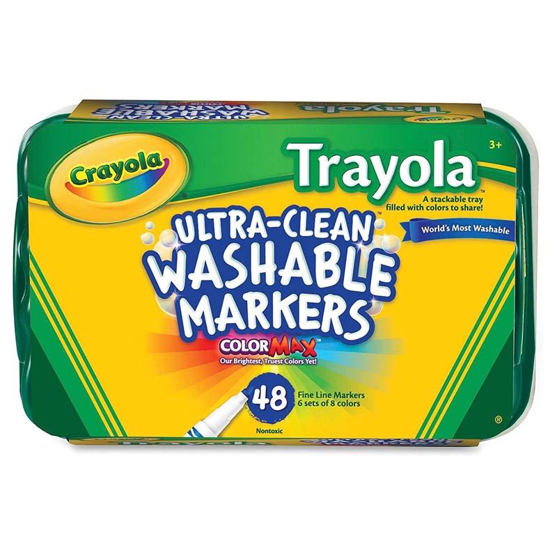 Crayola: 48 Piece Trayola Ultra-Clean Washable Markers Fine Line