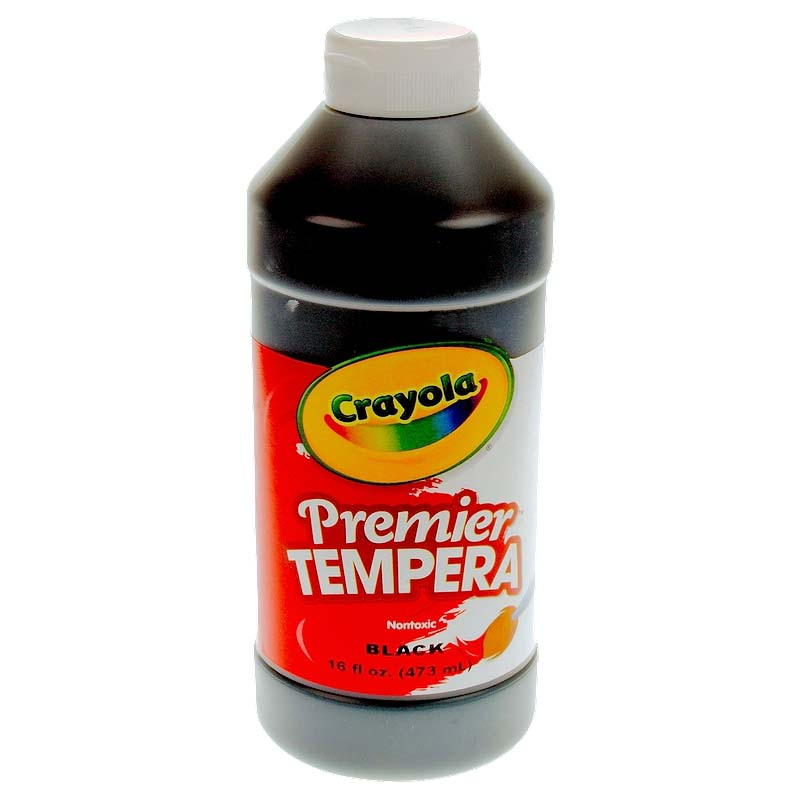 Crayola: 16 oz. Premier Tempera Paint - Black