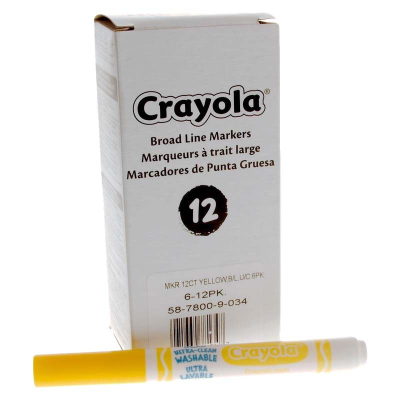 Crayola: Ultra-Clean Washable Markers - Yellow