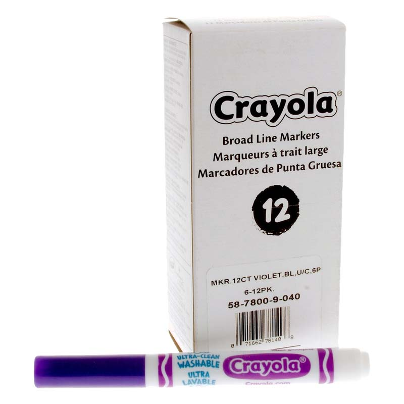 Crayola: Ultra-Clean Washable Markers - Violet (Purple)