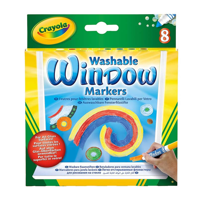 Crayola: 8 Piece Washable Window Markers