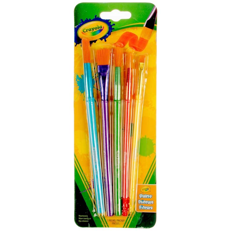 Crayola: 5 Piece Arts & Crafts Brush Set