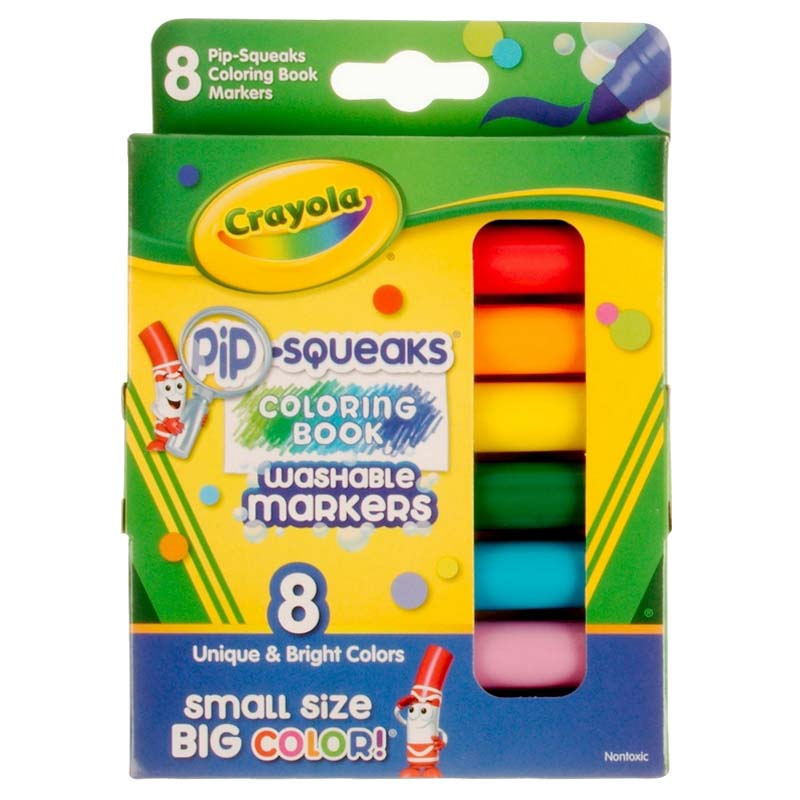 Crayola: 8 Piece Washable Pip-Squeaks Markers