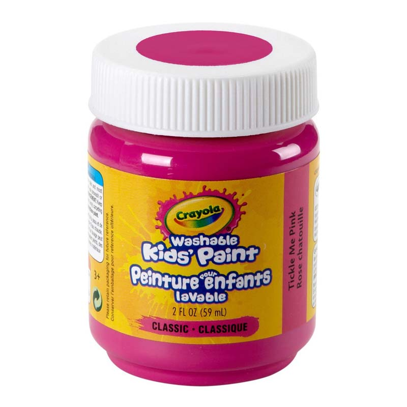 Crayola: 2 oz. Washable Paint - Tickle Me Pink
