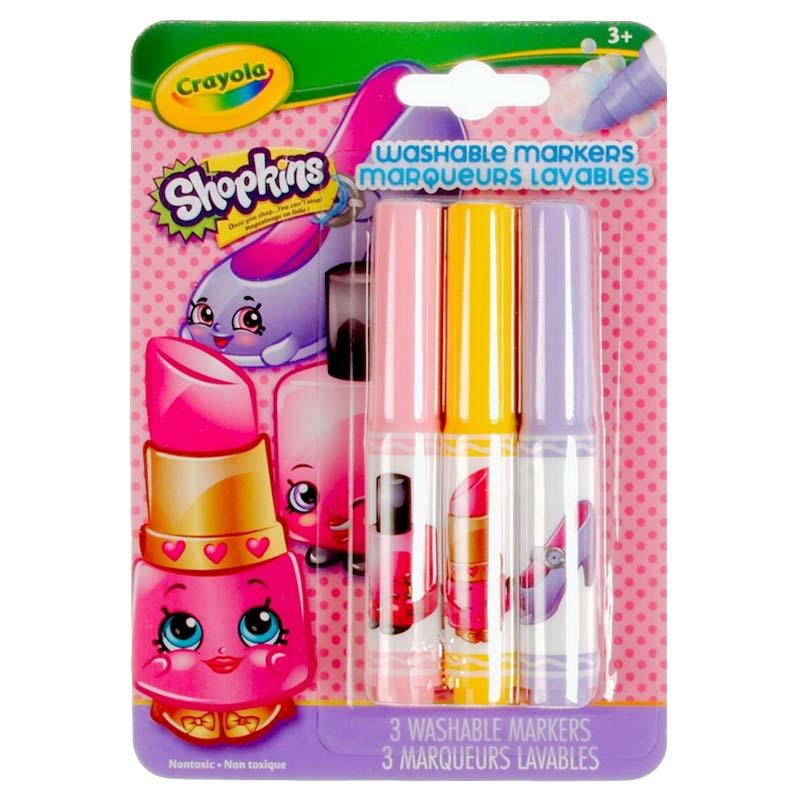 Crayola: 3 Piece Markers - Shopkins