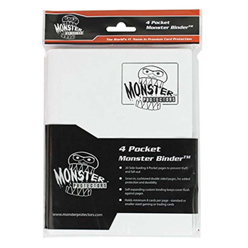 Monster Binder: 4 Pocket Matte White