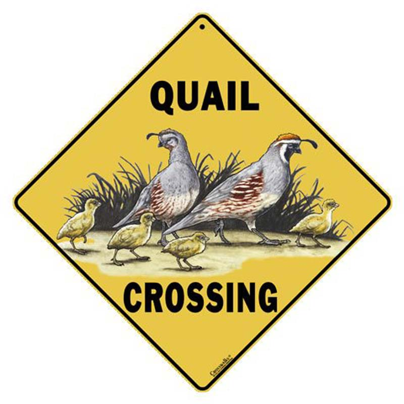 Quail Crossing Sign - Sign