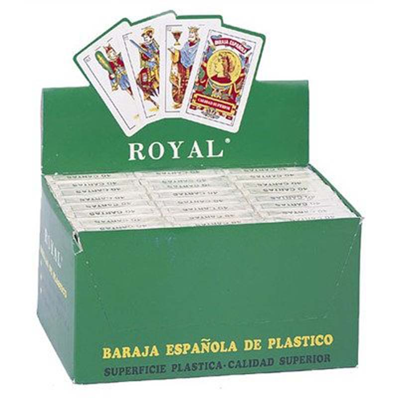 24 Decks Spanish Plastic Cards