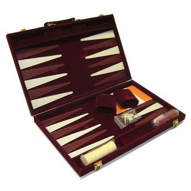 "18"" Burgandy Backgammon Set"