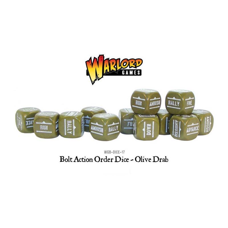 Bolt Action: Orders Dice - Olive Drab