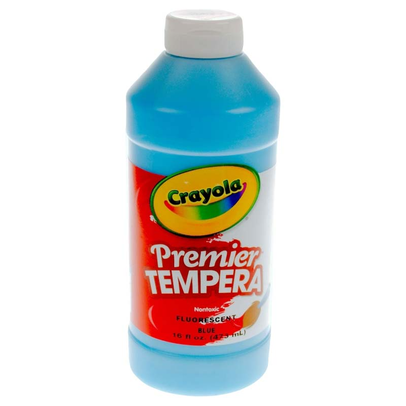 Crayola: 16 oz. Premier Tempera Paint - Fluorescent Blue