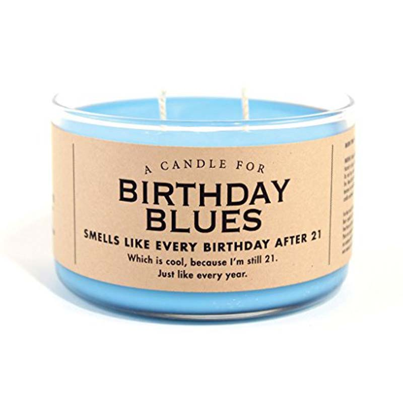 Birthday Blues Candle