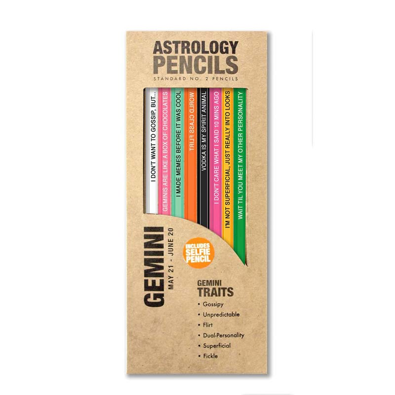 Astrology Gemini - Pencils