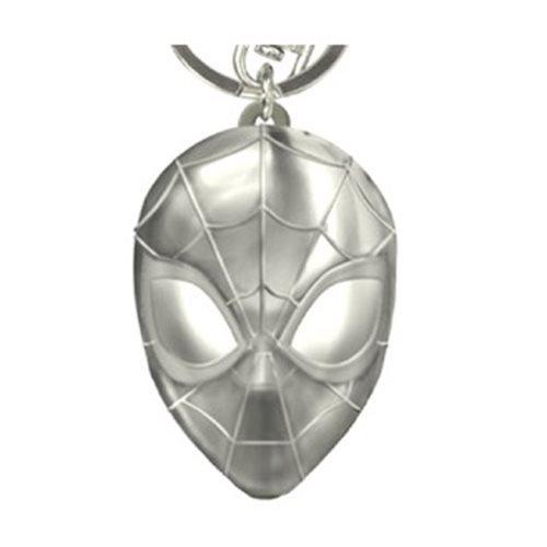 Pewter Keyring  - Spider Man Head (New)