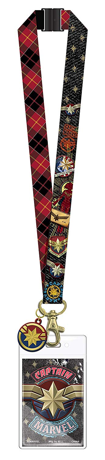 Lanyard with Soft Touch Dangle - Captain Marvel