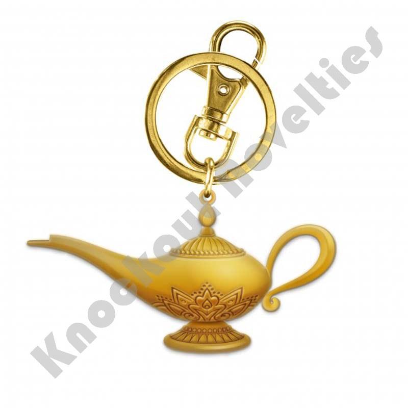 Soft Touch Keyring - 3D Aladdin's Lamp