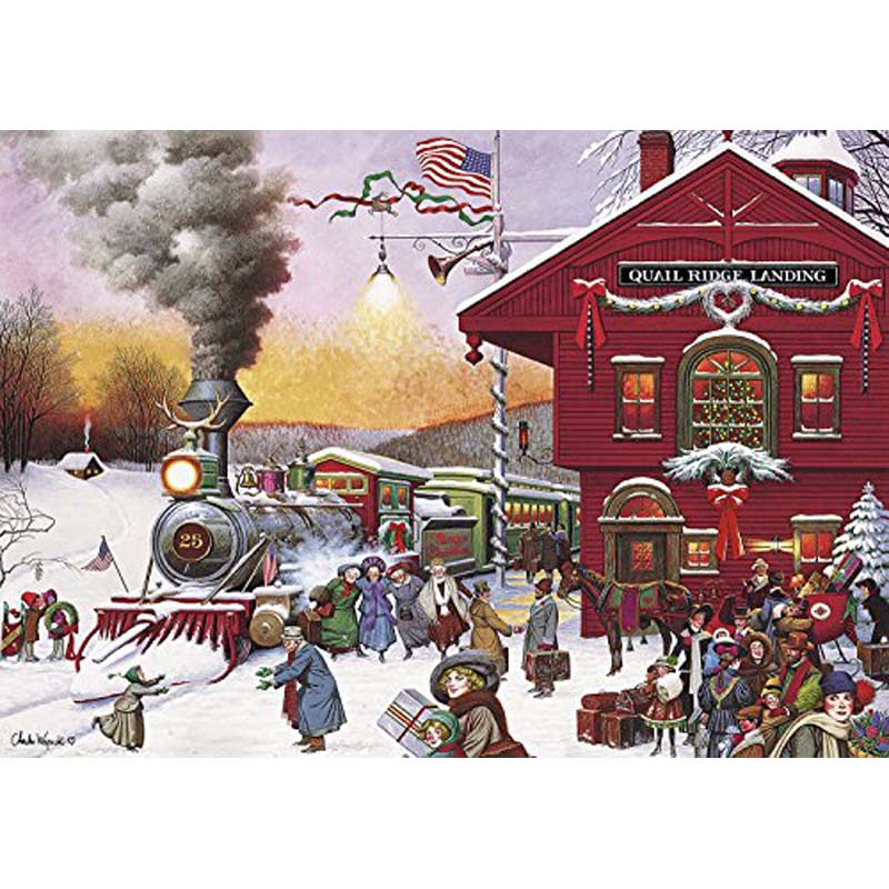 500 Piece Jigsaw Puzzle - Whistle Stop Christmas