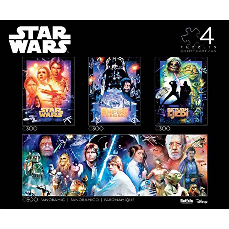4-in-1 300/300/300/500 Piece Jigsaw Puzzle - Star Wars Multipack Collector's Edition