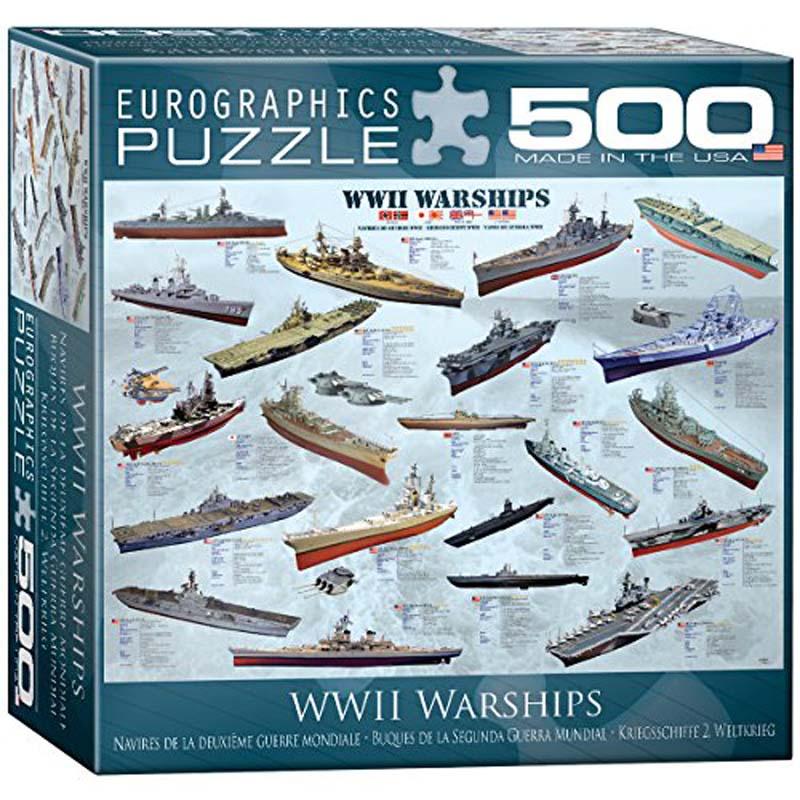 500 Piece Puzzle - World War II Warships