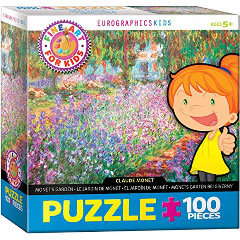 100 Piece Kids Puzzle - Monet's Garden by Claude Monet