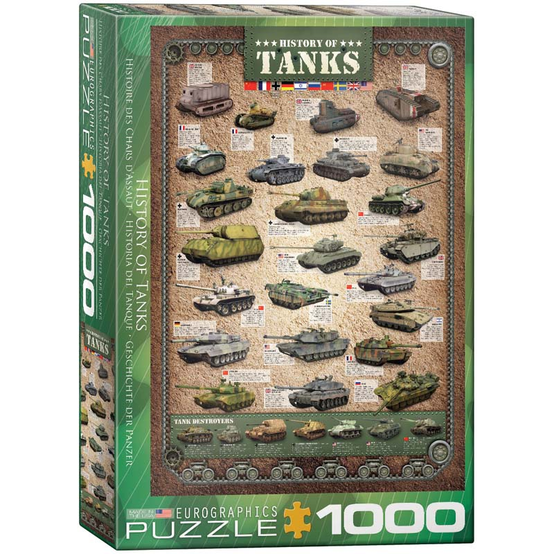 1000 Piece Puzzle - History of Tanks
