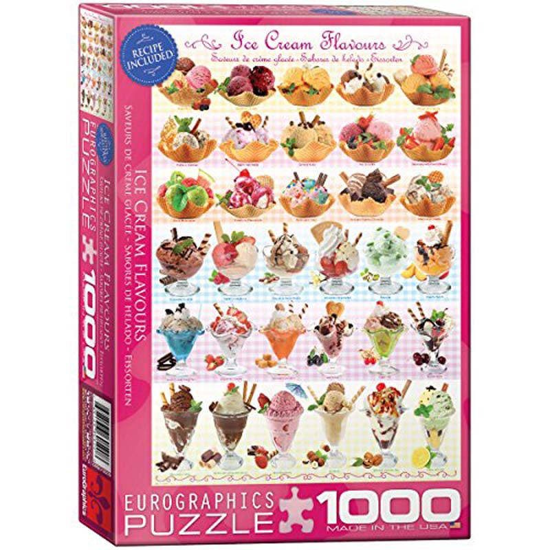 1000 Piece Puzzle - Ice Cream Flavors