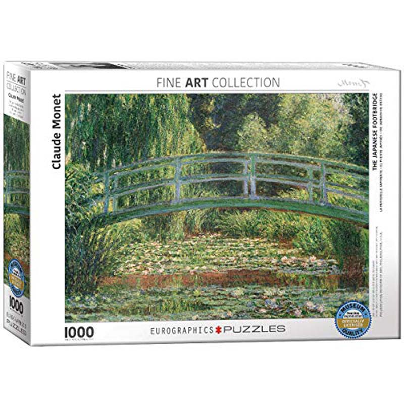 1000 Piece Puzzle - The Japanese Footbridge by Claude Monett
