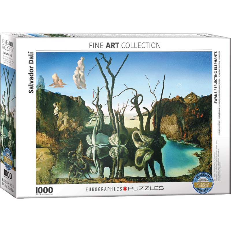 1000 Piece Puzzle - Swans Reflection Elephants by Salvador Dali