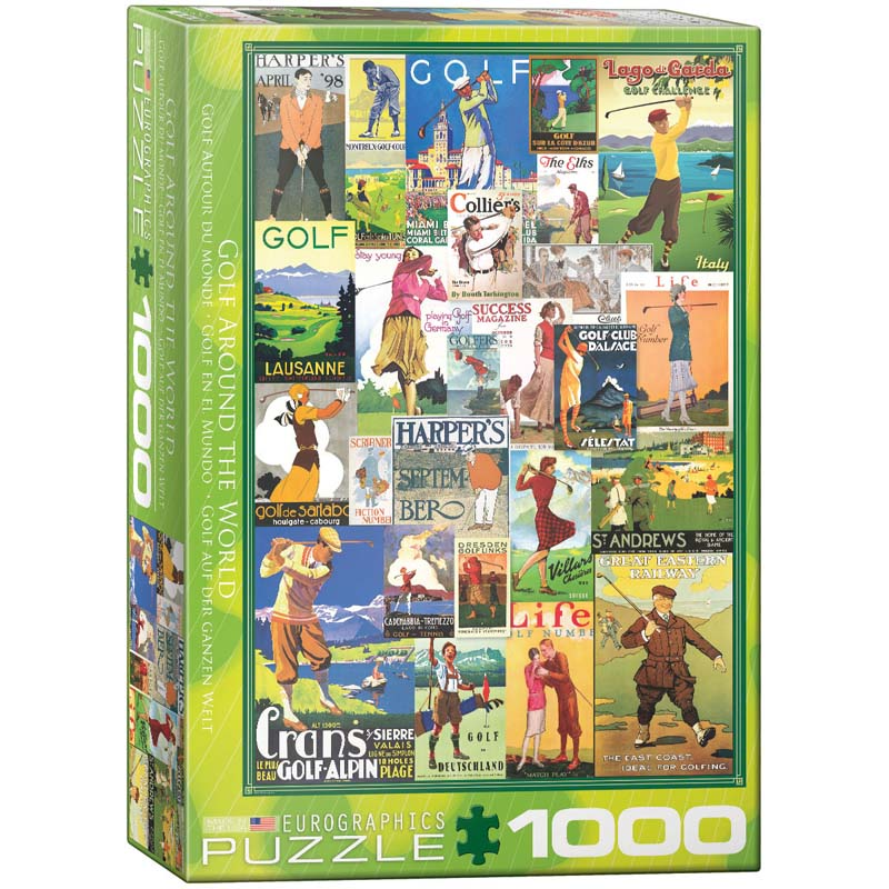 1000 Piece Puzzle - Golf Around the World
