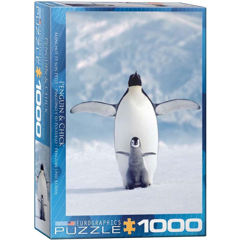 1000 Piece Puzzle - Penguin & Chick