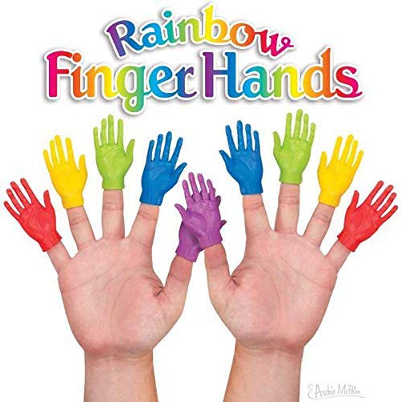 Set of 10 Finger Puppets - Rainbow Hand