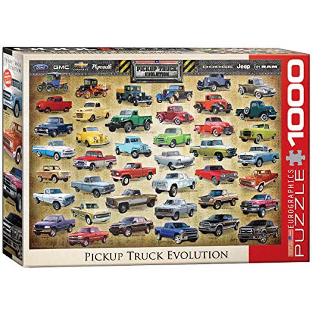 1000 Piece Puzzle - Pickup Truck Evolution