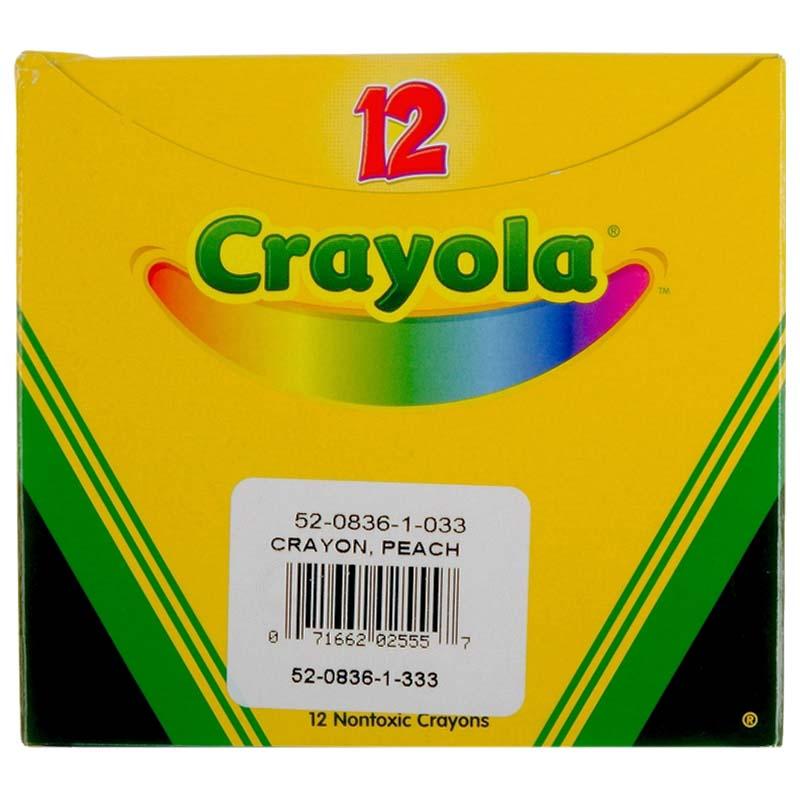 Bulk Crayons, Regular Size - Peach