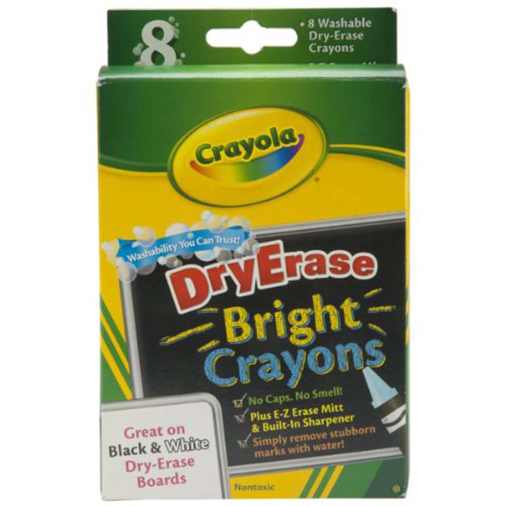 8 ct. Dry-Erase Crayons, Brights, Large Size