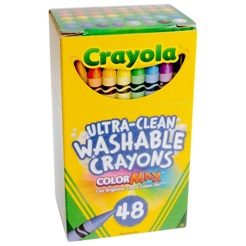 48 ct. Ultra-Clean Washable Crayons - Regular Size