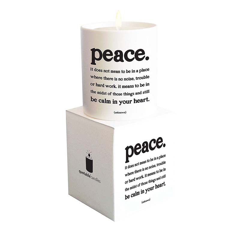 """Quotable Candle - """"Peace"""""""
