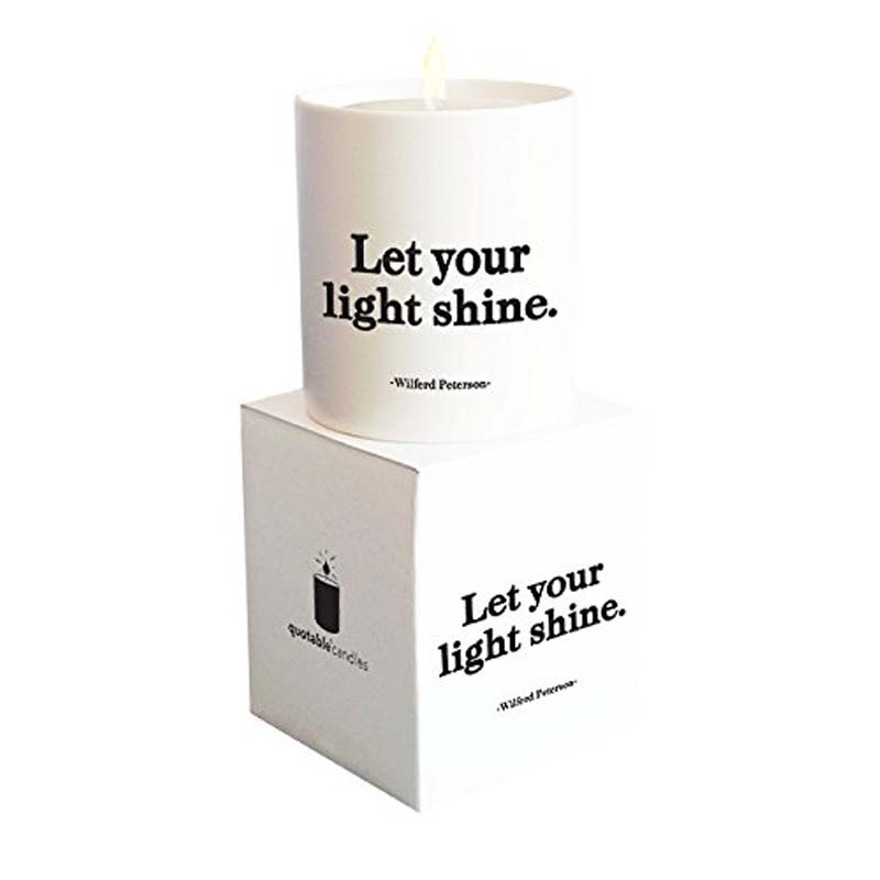 """Quotable Candle - """"Let Your Light Shine"""""""